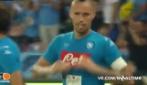 Napoli-Chievo, Hamsik segna il gol numero 100: esultanza dedicata al terzo figlio in arrivo