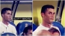 """La rabbia di Cristiano Ronaldo dopo la sostituzione: """"Figlio di pu**ana"""""""