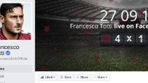 Il live di Francesco Totti su Facebook: decine di migliaia di utenti impazziti per il capitano