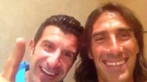"""Gli auguri di Figo a Totti: """"Nel 2000 meritavi tu il Pallone d'oro"""""""