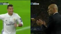 Borussia-Real Madrid, Cristiano Ronaldo segna e Zidane lo applaude