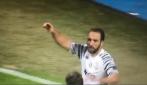 Dinamo Zagabria-Juventus, gran gol di Higuaìn: l'esultanza dei bianconeri