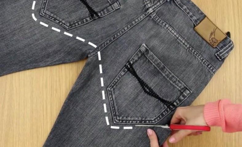 Pochi In Secondi Jeans Come Trasformare Un Vecchio lcFK1J