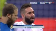 Real-Atletico, Carvajal esce in lacrime dal campo dopo l'infortunio