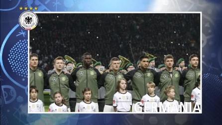 Germania in Francia con i gradi di campione del mondo