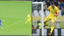 Gol d'autore per l'ex Udinese Gabriel Torje: ecco la rete all'Ucraina