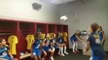 Spettacolo nello spogliatoio della nazionale femminile brasiliana