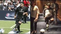 Maradona stupisce ancora: incredibile tunnel ad una ragazza