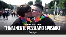 """Il Gay Pride di Ilaria e Chiara: """"Finalmente possiamo sposarci"""""""