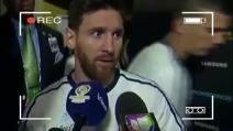 """Le parole di Messi a fine partita: """"Lascio la nazionale"""""""
