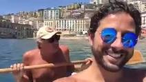 """Massimo Giletti in canoa a Napoli: """"Non ho mai detto città indecorosa"""""""