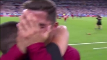 Portogallo Campione d'Europa, Cristiano Ronaldo piange di gioia