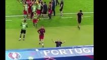 Euro 2016, Gli ultimi minuti della finale: telecamera fissa su Cristiano Ronaldo