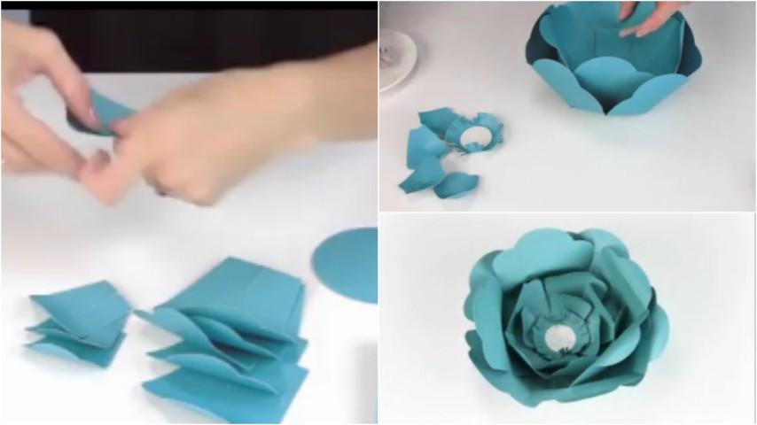 Come realizzare fiori di carta in modo semplice e veloce for Case facili da costruire