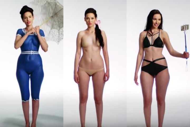 L evoluzione del costume da bagno con il body paint