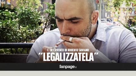 """Roberto Saviano: """"Legalizzare la cannabis per un Paese migliore """""""