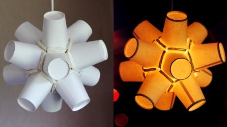 Come costruire una lampada fai da te idee semplici e originali for Lampadari da stanzetta