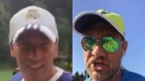 "Zidane saluta Bobo Vieri e arriva la sfida: ""Giochiamo Italia-Francia"""