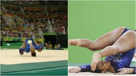 Paura ai Giochi di Rio, ginnasta inglese salta e cade sul collo: il video dell'incidente