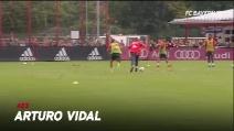 Vidal che meraviglia: un gol super del cileno durante l'allenamento
