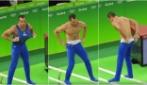 Rio 2016, il ginnasta si spoglia durante l'esercizio: il pubblico in visibilio