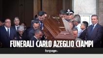 L'ultimo saluto al presidente Ciampi: ai funerali il dolore della moglie Franca