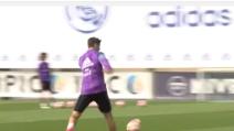 Il gioco di prestigio di Alvaro Morata: che gol in allenamento