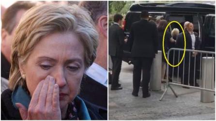 Malore per Hillary Clinton: sorretta dalle guardie del corpo abbandona le commemorazioni dell'11/9