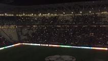Champions League, lo Juventus Stadium si oscura: che spettacolo!