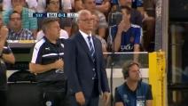 La composta reazione di Ranieri dopo il primo gol del Leicester in Champions League
