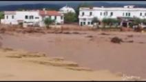Dopo l'alluvione, Peschici irriconoscibile