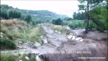 Situazione maltempo alluvione campagne Carpino-Cagnano