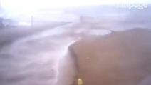 Baia di Manaccora Peschici (FG), la spiaggia travolta dall'acqua