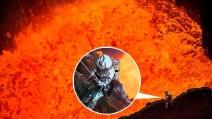 """Nella bocca del vulcano: l'incredibile esperienza a temperature """"infernali"""""""