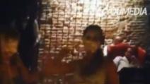 La festa di Belén Rodriguez finisce a torte in faccia