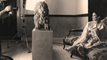 Augusto De Luca e Carla Fracci - in sala posa.