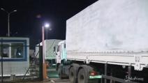 Ucraina, arrivano i camion russi con aiuti umanitari
