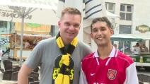Champions, tifosi del Borussia e dell'Arsenal si abbracciano a Dortmund