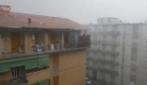 Forte temporale e grandine su Firenze