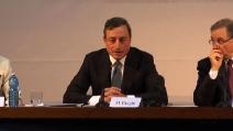 """Draghi: """"Le difficoltà economiche di Napoli non dipendono dalla politica monetaria"""""""
