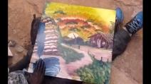 Un quadro stupendo, ecco come dipingerlo con le mani in soli 9 minuti