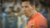 Messi vomita ancora in Malaga-Barcellona