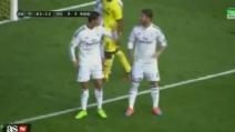 Cristiano Ronaldo e Sergio Ramos litigano in Villareal-Real Madrid