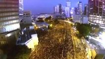 Hong Kong, la protesta di #Occupycentral vista dall'alto