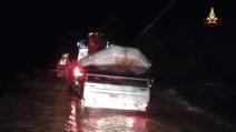 Alluvione in Maremma, l'intervento dei vigili del fuoco