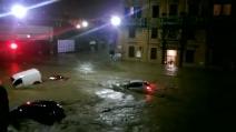 Incubo alluvione a Genova, l'acqua trascina via tutto