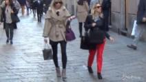 Justine Mattera, relax e shopping in Via Montenapoleone
