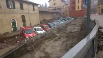 Allarme maltempo, a Busalla (GE) acqua alta due metri