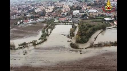 Bresso allagata dopo l'esondazione del Seveso: le immagini dall'alto