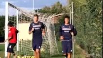 Cagliari, primi allenamenti in vista del Napoli